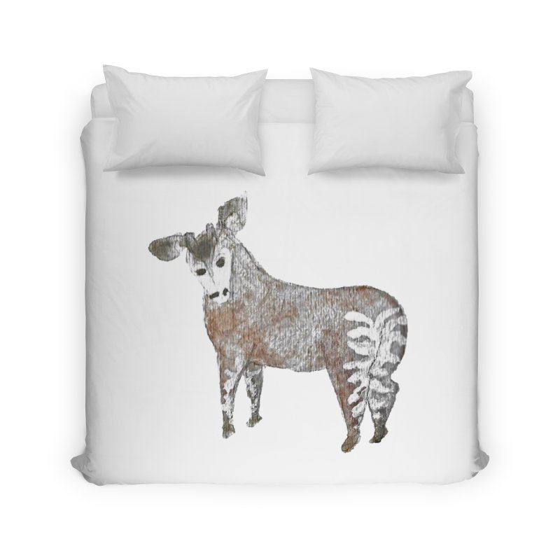 Watercolor Okapi from Behind Home Duvet by The Wilderness Store