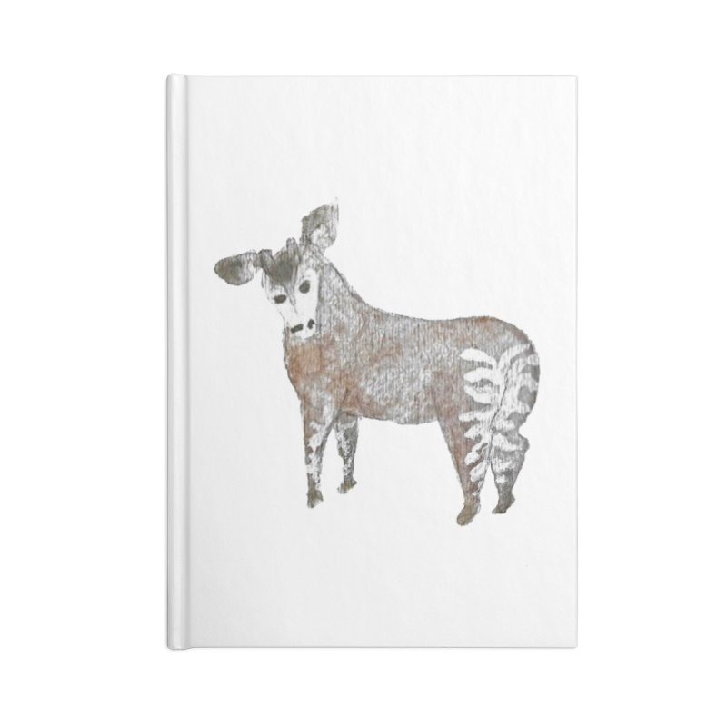 Watercolor Okapi from Behind Accessories Notebook by The Wilderness Store