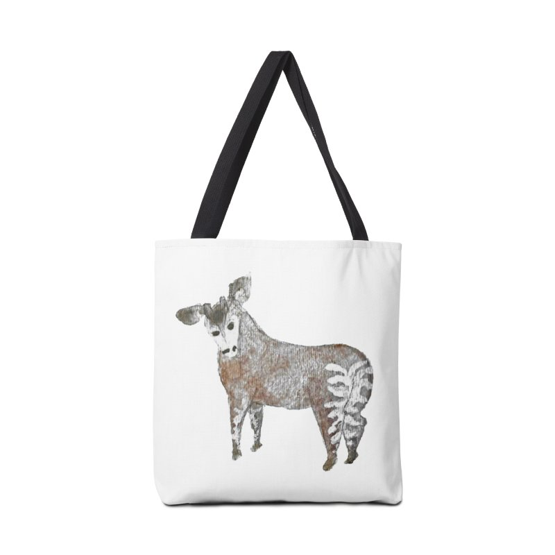 Watercolor Okapi from Behind Accessories Bag by The Wilderness Store