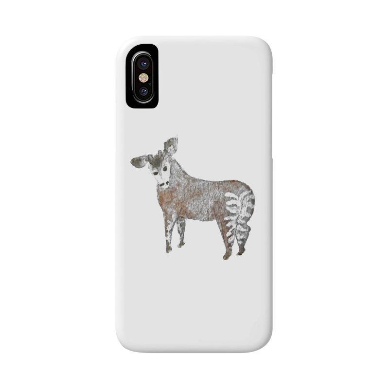 Watercolor Okapi from Behind in iPhone X / XS Phone Case Slim by The Wilderness Store
