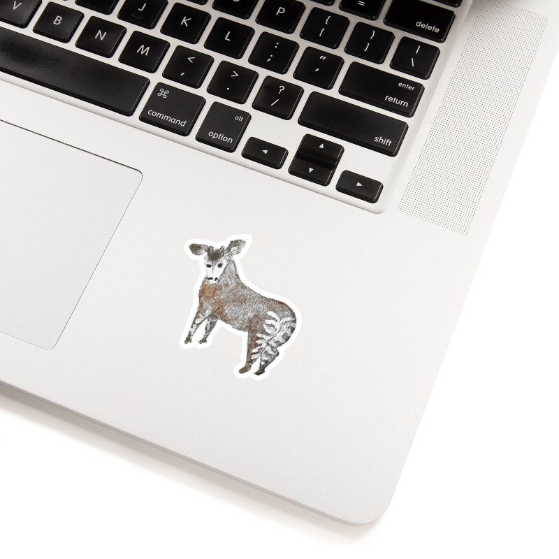 Watercolor Okapi from Behind Accessories Sticker by The Wilderness Store