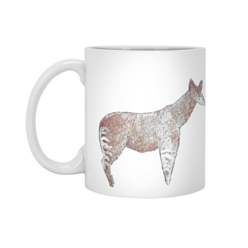 Watercolor Okapi Standing Accessories Mug by The Wilderness Store