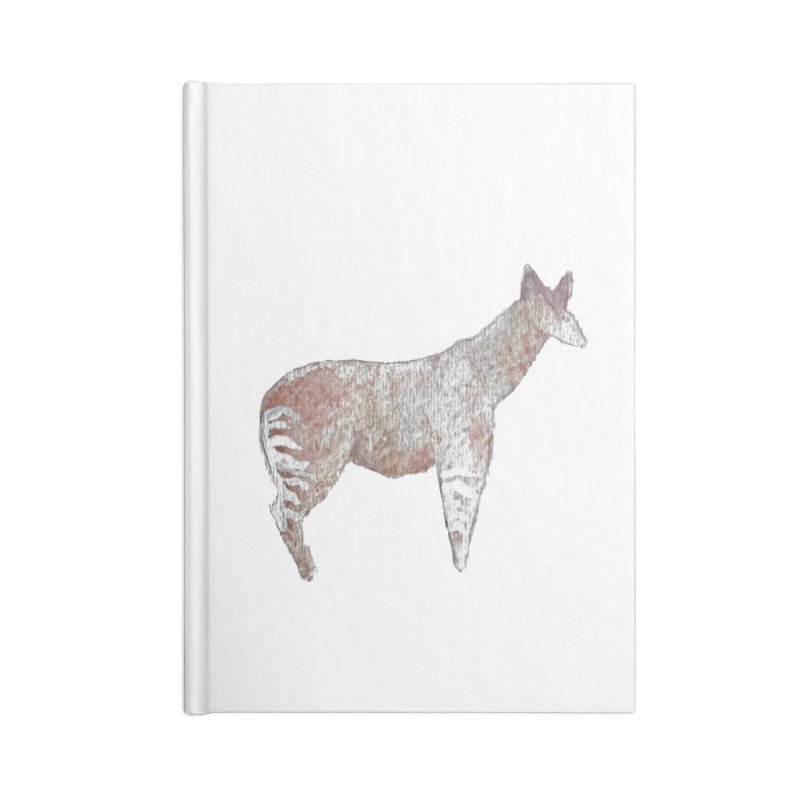 Watercolor Okapi Standing Accessories Notebook by The Wilderness Store