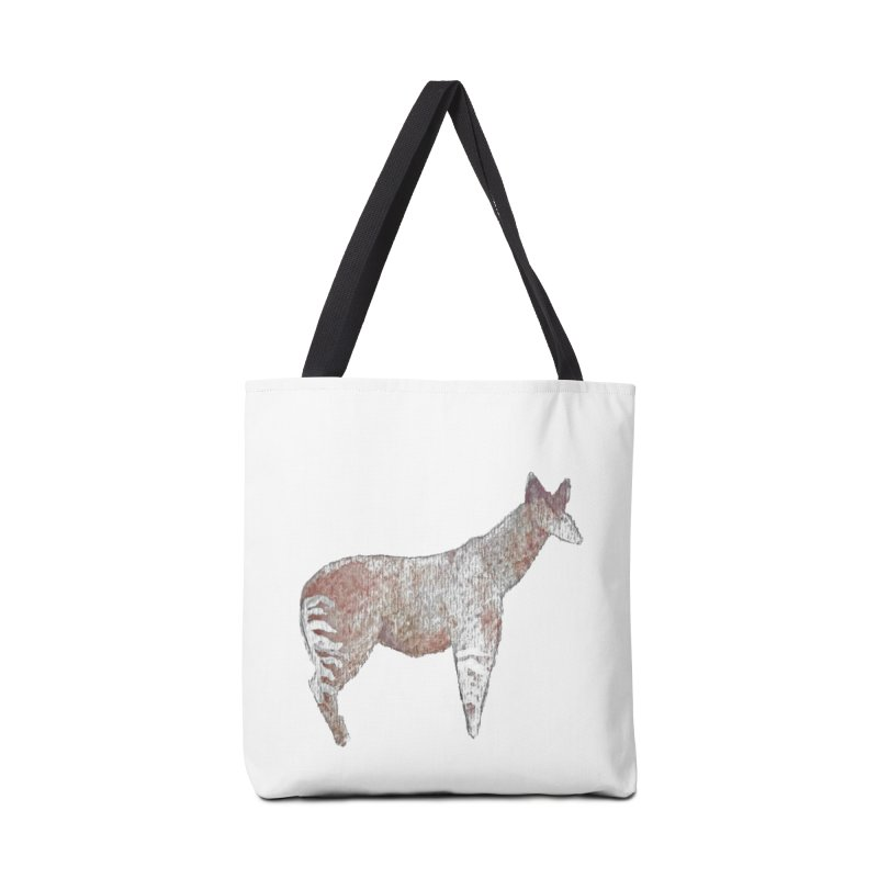 Watercolor Okapi Standing Accessories Bag by The Wilderness Store
