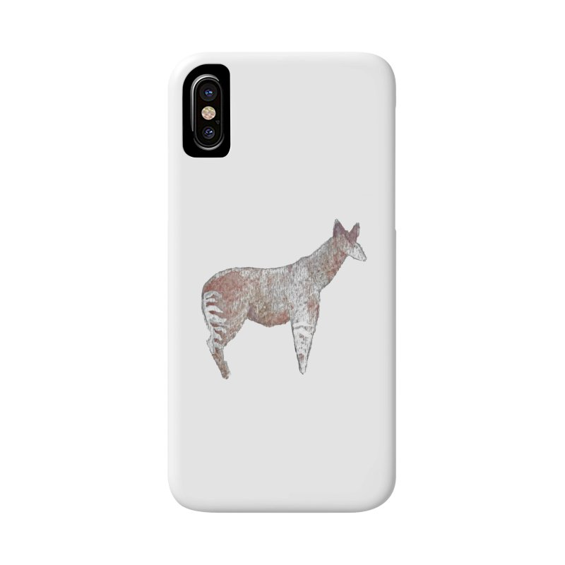 Watercolor Okapi Standing Accessories Phone Case by The Wilderness Store