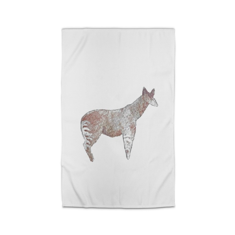 Watercolor Okapi Standing Home Rug by The Wilderness Store