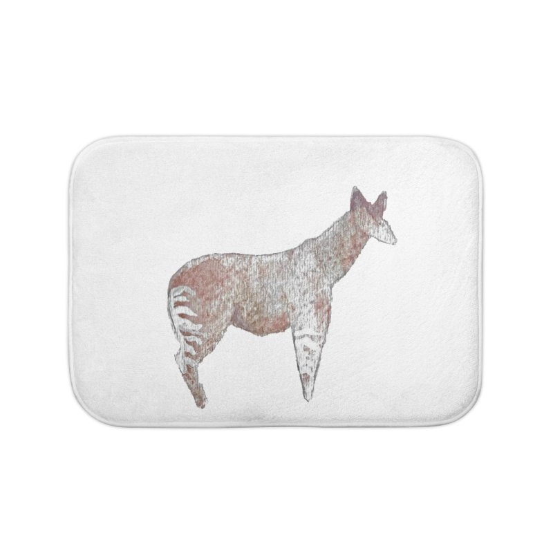 Watercolor Okapi Standing Home Bath Mat by The Wilderness Store