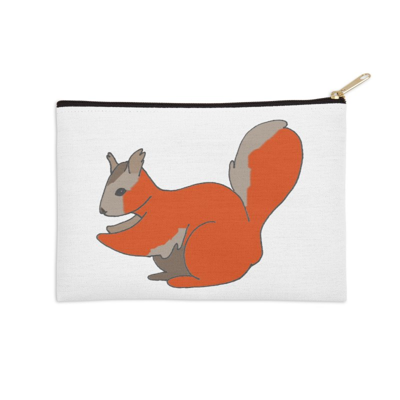 Red Tree Squirrel Accessories Zip Pouch by The Wilderness Store