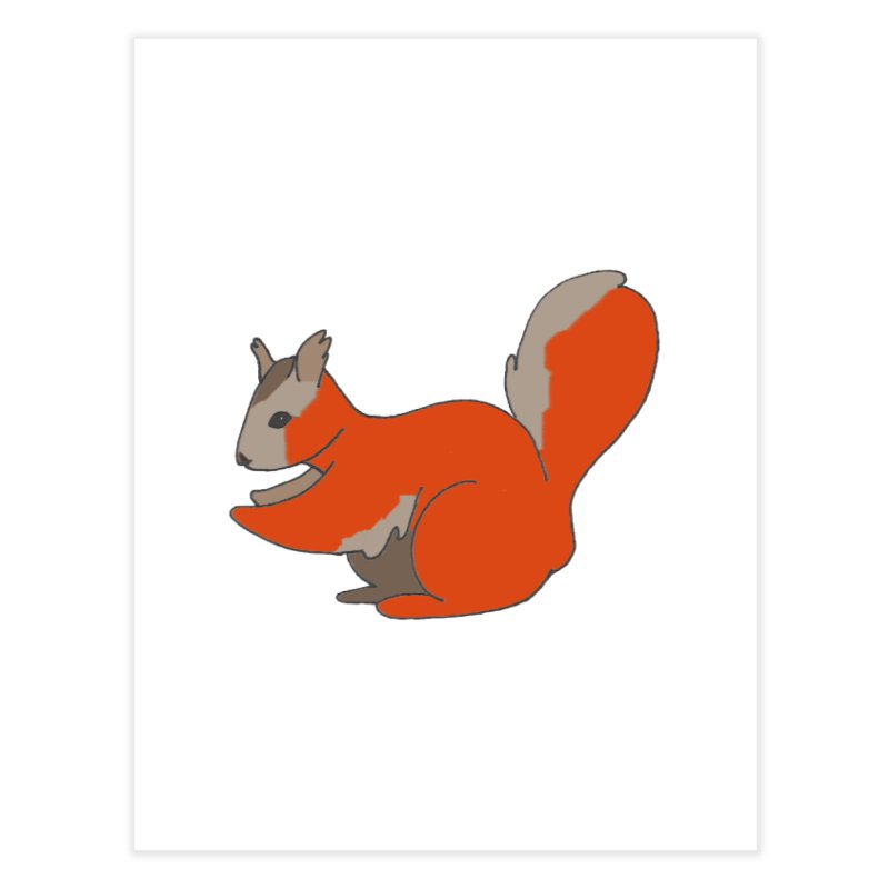 Red Tree Squirrel Home Fine Art Print by The Wilderness Store