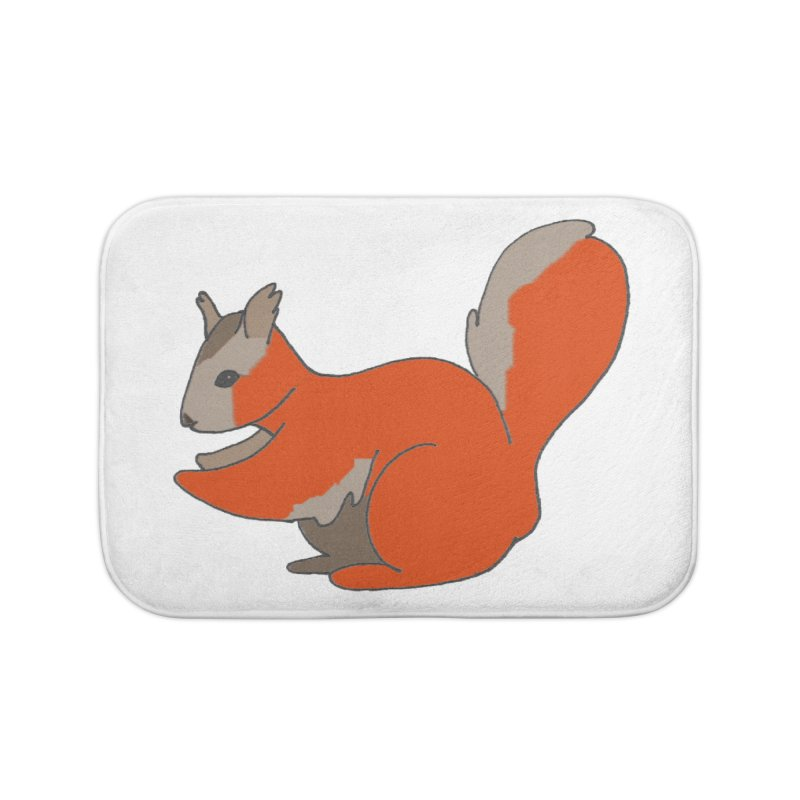 Red Tree Squirrel Home Bath Mat by The Wilderness Store