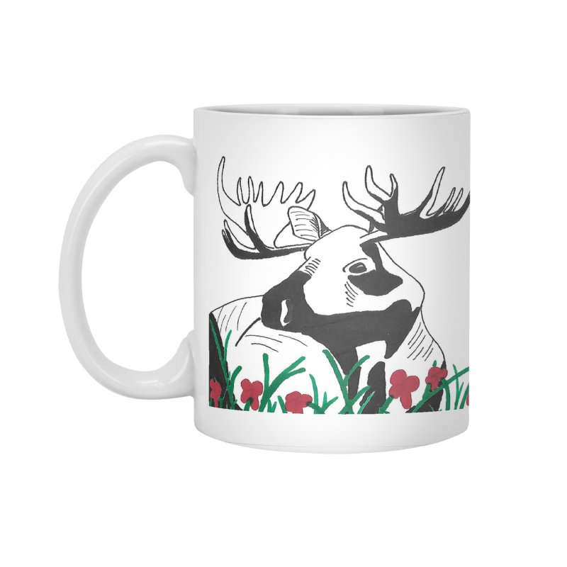 Moose Among Flowers Accessories Standard Mug by The Wilderness Store