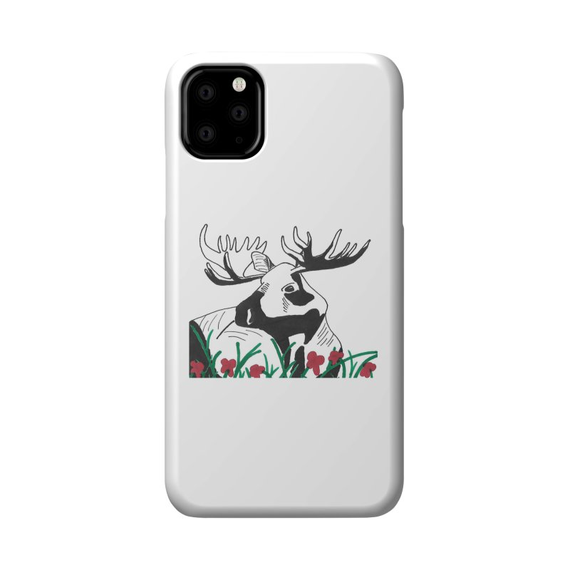 Moose Among Flowers Accessories Phone Case by The Wilderness Store