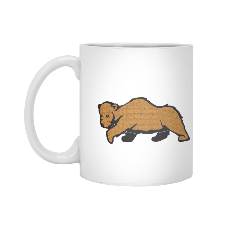 Walking Brown Grizzly Bear Accessories Standard Mug by The Wilderness Store