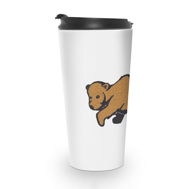 Walking Brown Grizzly Bear Accessories Travel Mug by The Wilderness Store