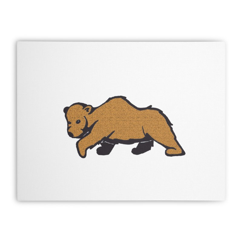 Walking Brown Grizzly Bear Home Stretched Canvas by The Wilderness Store