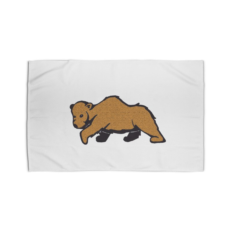 Walking Brown Grizzly Bear Home Rug by The Wilderness Store