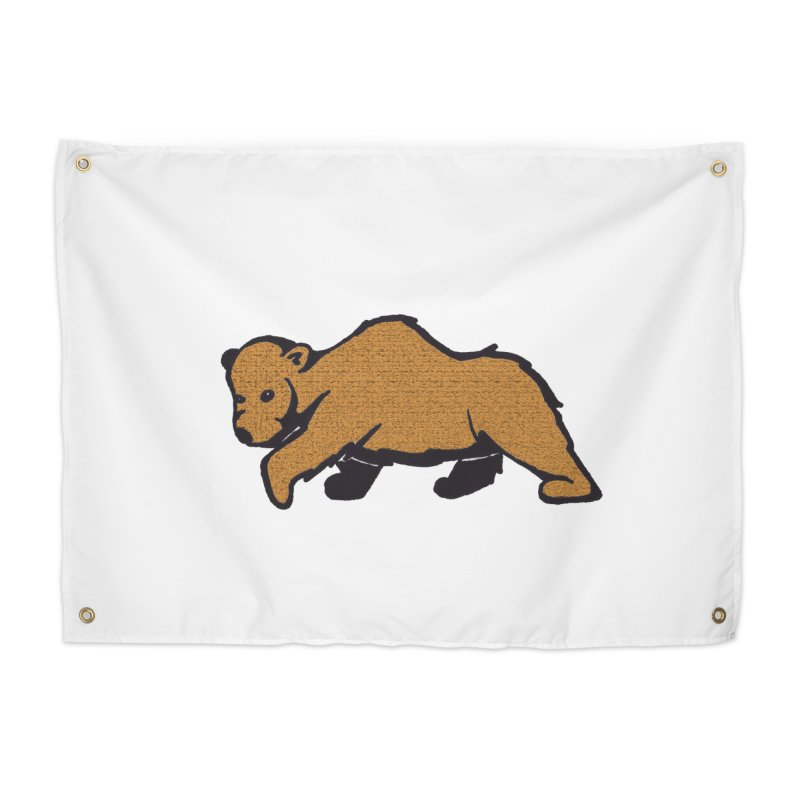 Walking Brown Grizzly Bear Home Tapestry by The Wilderness Store