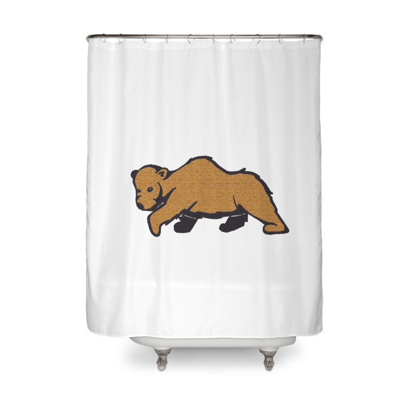 Walking Brown Grizzly Bear Home Shower Curtain by The Wilderness Store