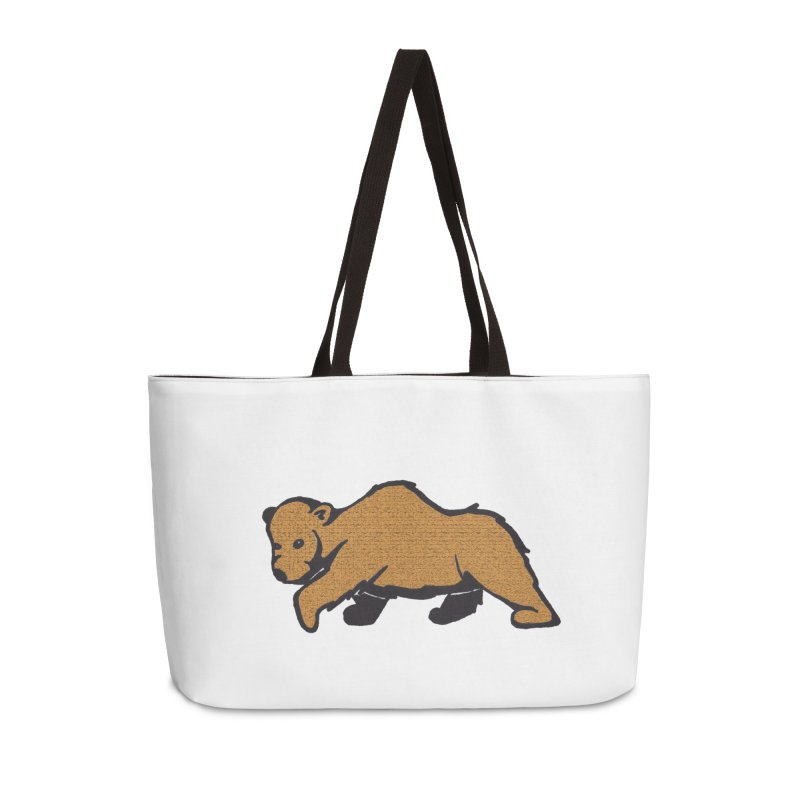 Walking Brown Grizzly Bear Accessories Weekender Bag Bag by The Wilderness Store