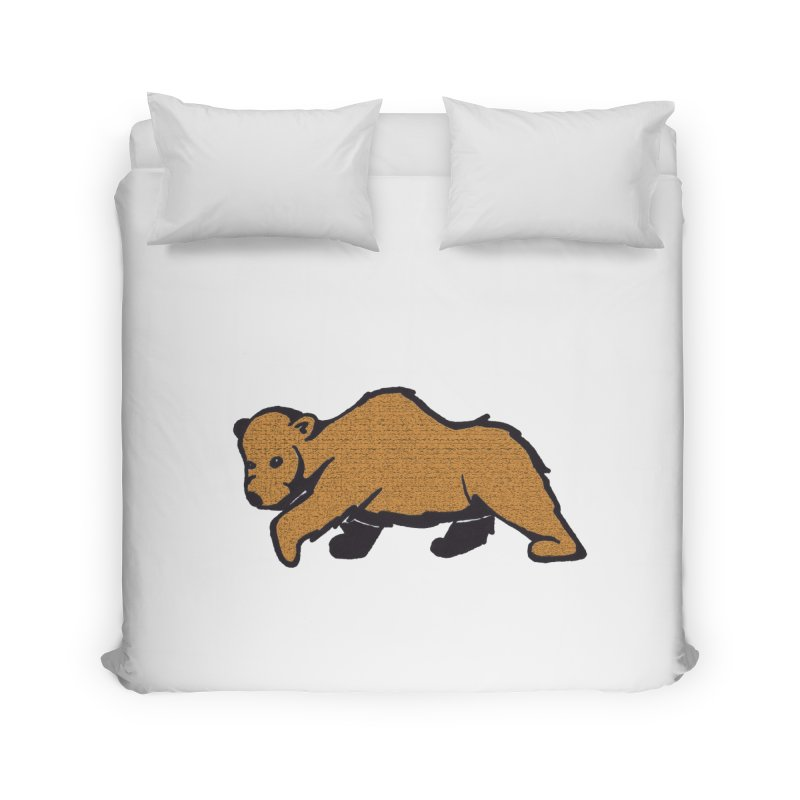 Walking Brown Grizzly Bear Home Duvet by The Wilderness Store