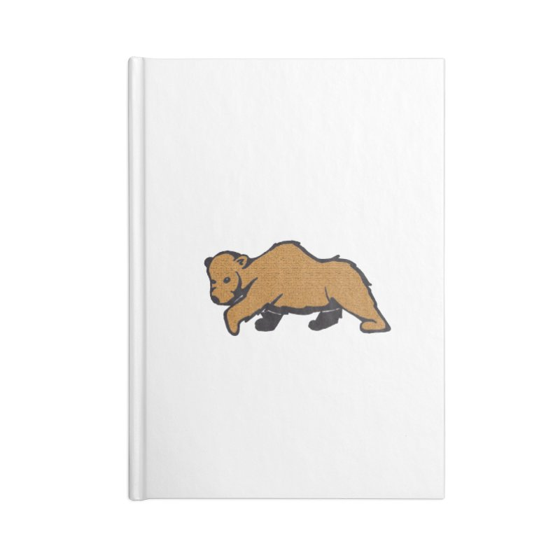 Walking Brown Grizzly Bear Accessories Lined Journal Notebook by The Wilderness Store
