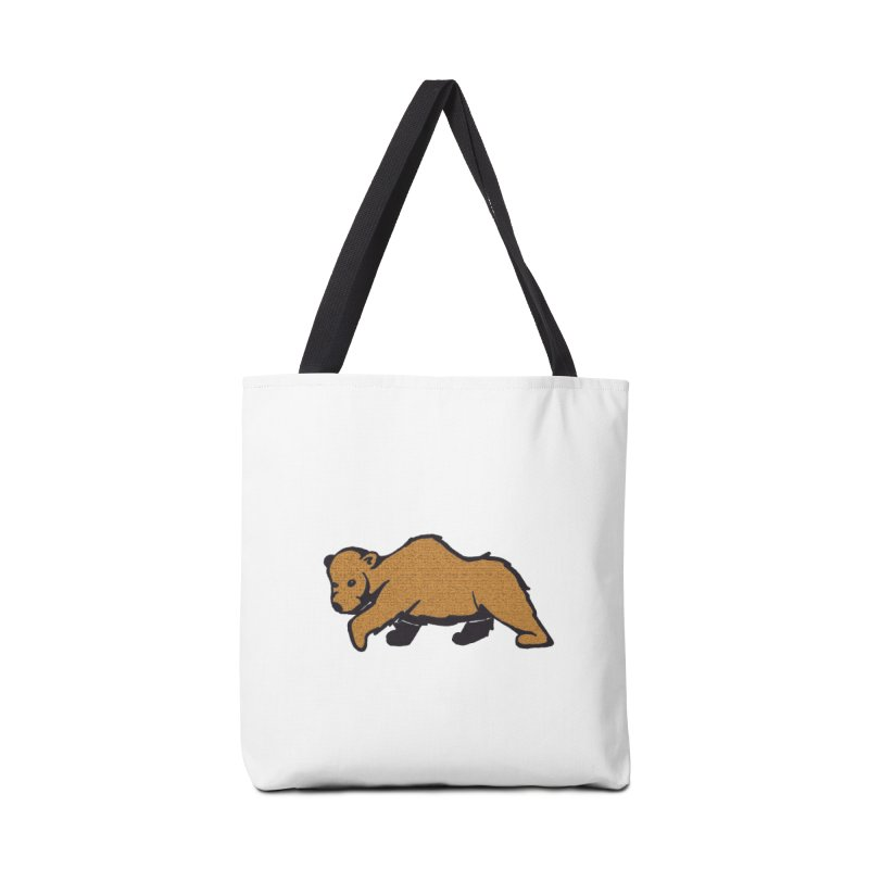 Walking Brown Grizzly Bear Accessories Tote Bag Bag by The Wilderness Store