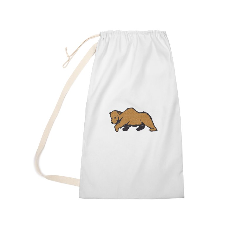 Walking Brown Grizzly Bear Accessories Laundry Bag Bag by The Wilderness Store