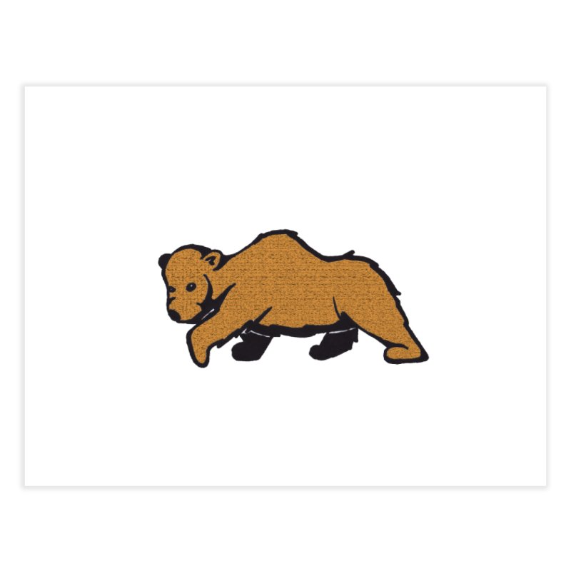 Walking Brown Grizzly Bear Home Fine Art Print by The Wilderness Store