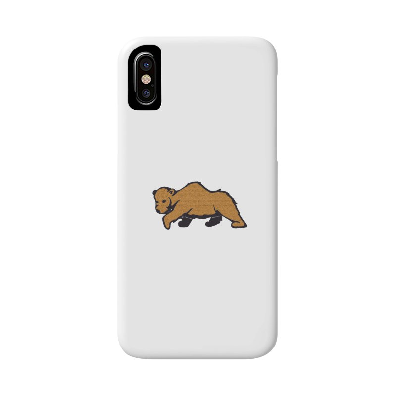 Walking Brown Grizzly Bear Accessories Phone Case by The Wilderness Store