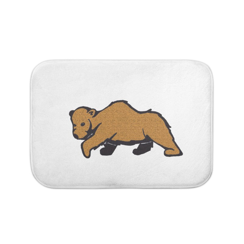 Walking Brown Grizzly Bear Home Bath Mat by The Wilderness Store