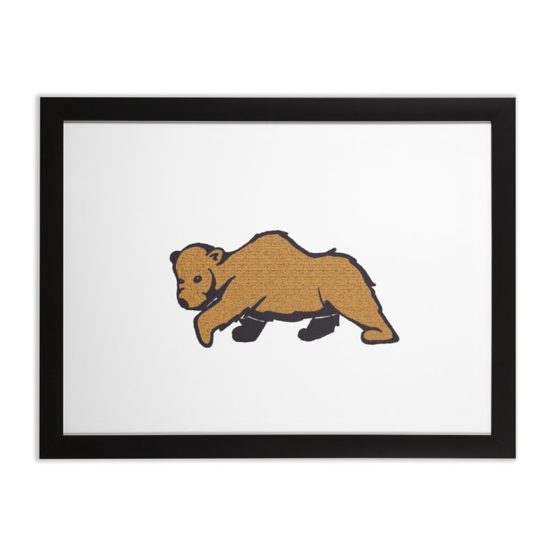 Walking Brown Grizzly Bear Home Framed Fine Art Print by The Wilderness Store