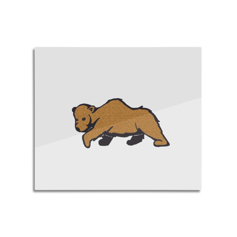 Walking Brown Grizzly Bear Home Mounted Aluminum Print by The Wilderness Store