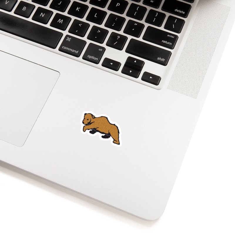 Walking Brown Grizzly Bear Accessories Sticker by The Wilderness Store