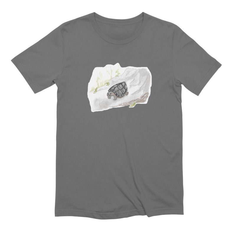 Watercolor Forest Wood Turtle Men's T-Shirt by The Wilderness Store