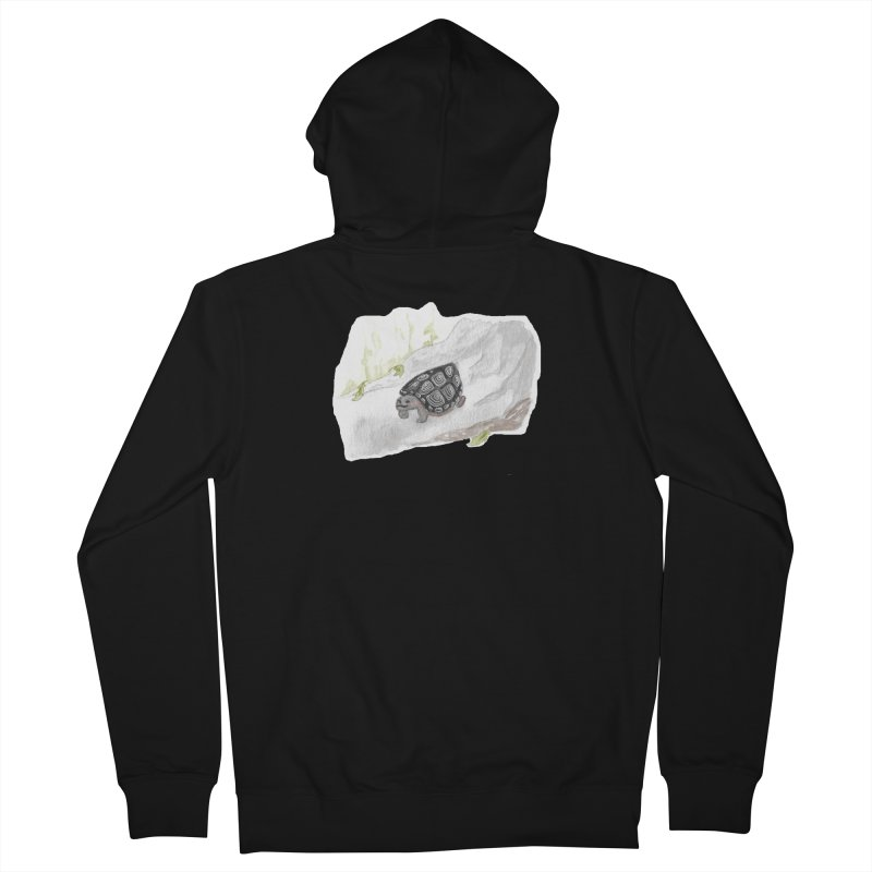 Watercolor Forest Wood Turtle Men's Zip-Up Hoody by The Wilderness Store