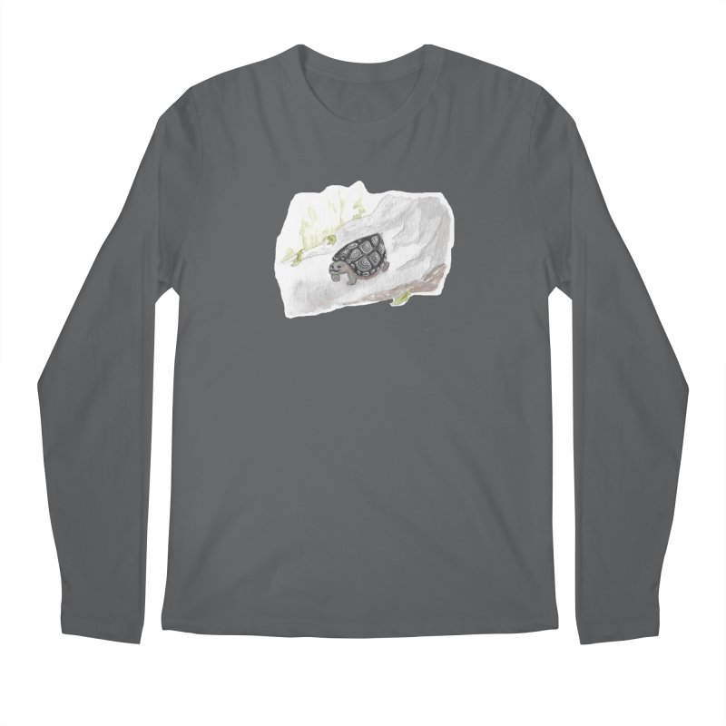 Watercolor Forest Wood Turtle Men's Regular Longsleeve T-Shirt by The Wilderness Store