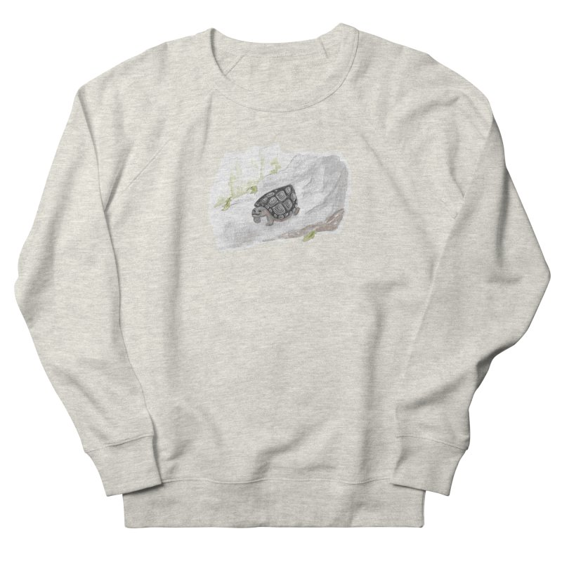 Watercolor Forest Wood Turtle Women's French Terry Sweatshirt by The Wilderness Store