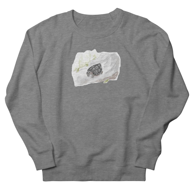 Watercolor Forest Wood Turtle Men's French Terry Sweatshirt by The Wilderness Store