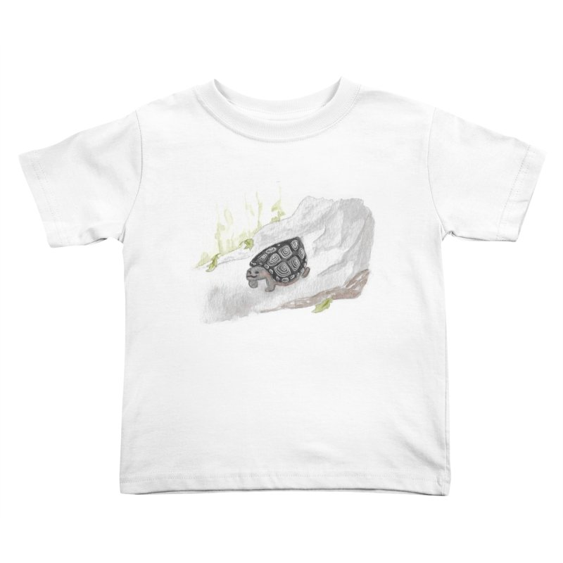 Watercolor Forest Wood Turtle Kids Toddler T-Shirt by The Wilderness Store
