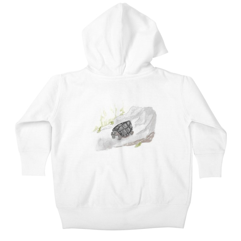 Watercolor Forest Wood Turtle Kids Baby Zip-Up Hoody by The Wilderness Store