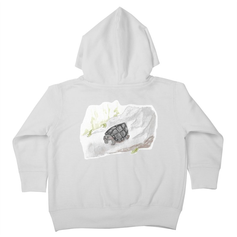 Watercolor Forest Wood Turtle Kids Toddler Zip-Up Hoody by The Wilderness Store