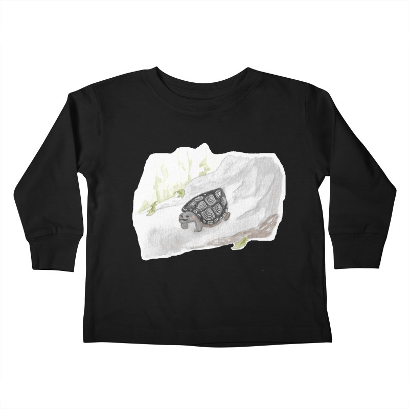 Watercolor Forest Wood Turtle Kids Toddler Longsleeve T-Shirt by The Wilderness Store