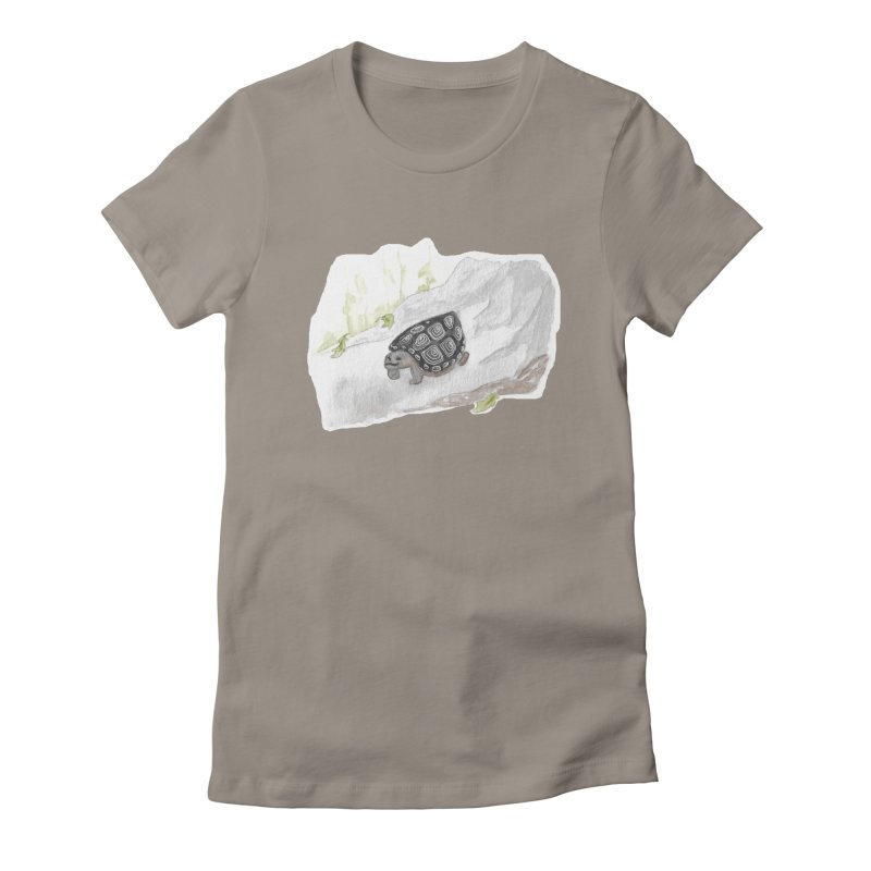 Watercolor Forest Wood Turtle Women's T-Shirt by The Wilderness Store