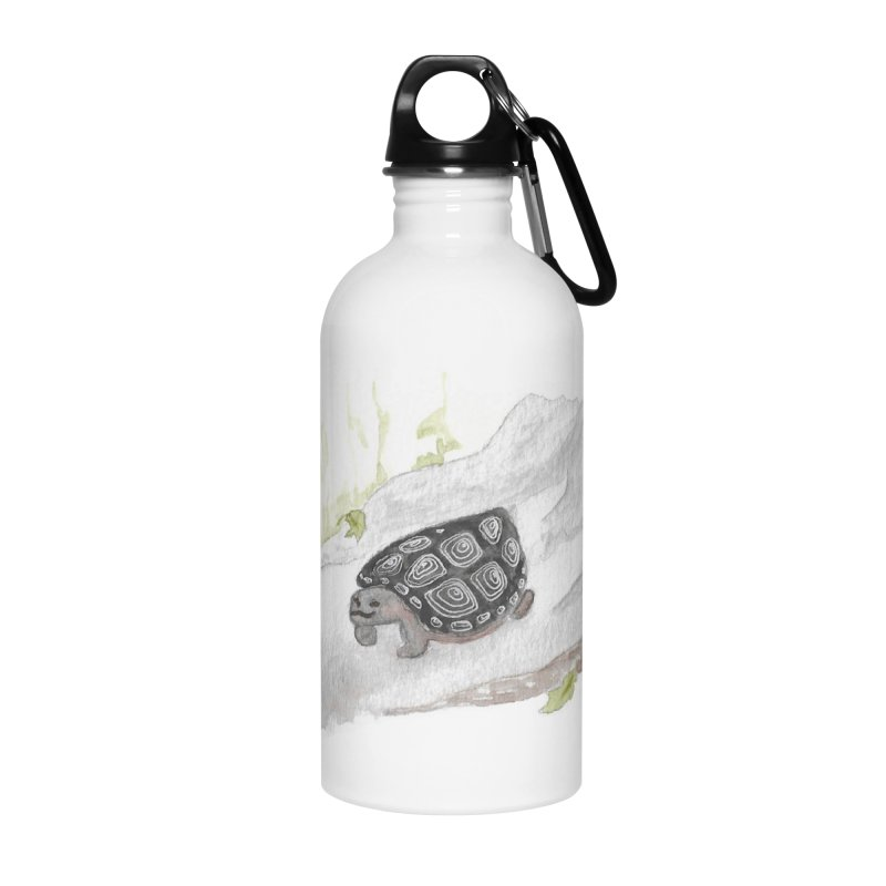 Watercolor Forest Wood Turtle Accessories Water Bottle by The Wilderness Store