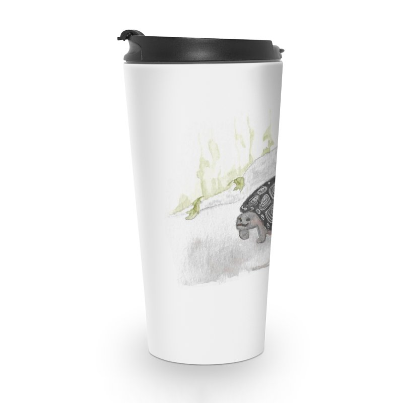 Watercolor Forest Wood Turtle Accessories Travel Mug by The Wilderness Store