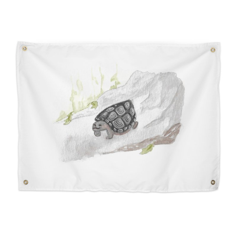 Watercolor Forest Wood Turtle Home Tapestry by The Wilderness Store