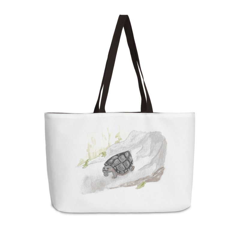 Watercolor Forest Wood Turtle Accessories Weekender Bag Bag by The Wilderness Store