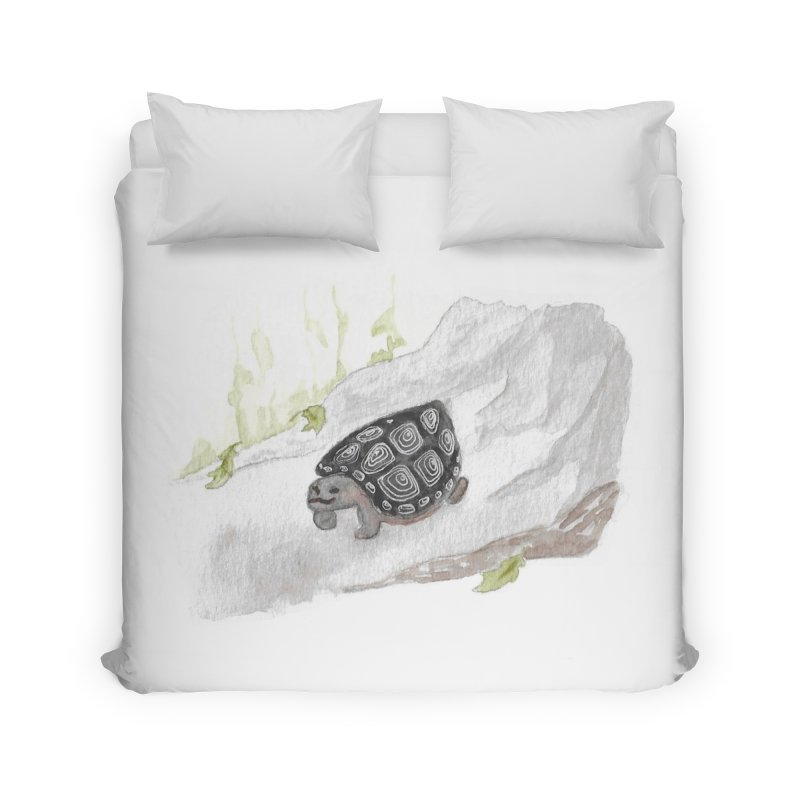 Watercolor Forest Wood Turtle Home Duvet by The Wilderness Store
