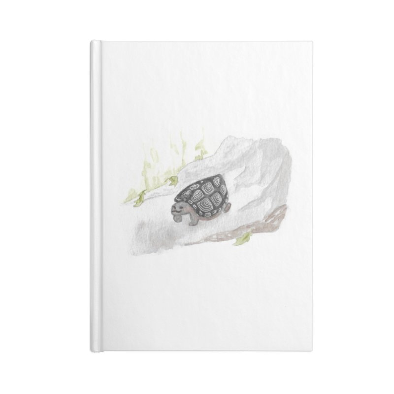 Watercolor Forest Wood Turtle Accessories Lined Journal Notebook by The Wilderness Store