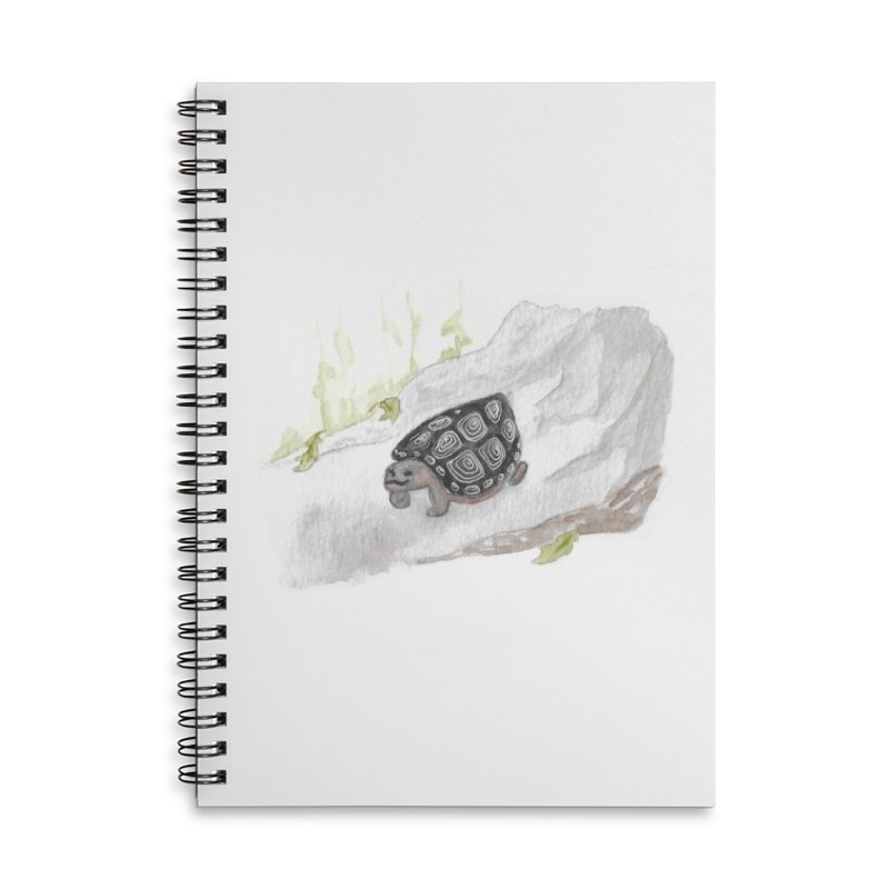 Watercolor Forest Wood Turtle Accessories Lined Spiral Notebook by The Wilderness Store